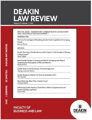 Deakin Law Review