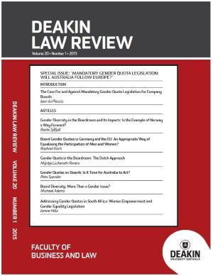 Deakin Law review image